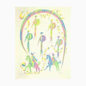 Desconocido - Picadores - Litografía original - 1970