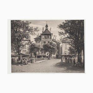 Litografia originale Antonio Fontanesi - Geneve - metà XIX secolo