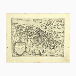 Franz Hogenberg - Karte von Magdeburg - Radierung - Spätes 16. Jahrhundert