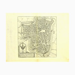 Franz Hogenberg - Map of Ypres - Etching - Late 16th Century