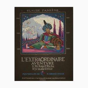 Claude Farrère - Aventure d'Achmet Pacha - Livre illustré original - Début du XXe siècle