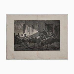 C. Laplante - The Dormitory - Litografía original - Principios del siglo XX