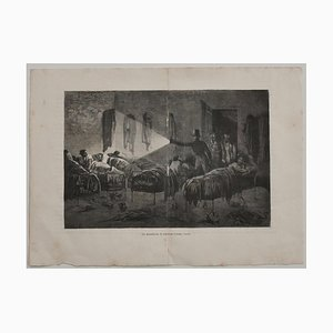 C. Laplante - the Dormitory - Original Lithograph - Early 20th Century
