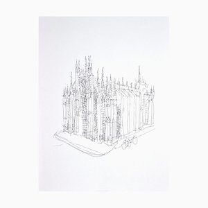 Franco Gentilini - The Cathedral - Original Photolithography - 1970s