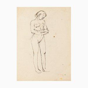 Jeanne Daour - Prezzo_Nude - Original Zeichnung in Bleistift - Mitte des 20. Jahrhunderts