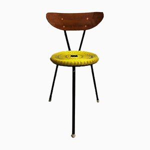 Schwedischer Teak & Plastik Stuhl, 1950er