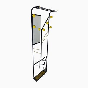 Vintage Atomic Age Coat Rack Hall Stand by Roger Feraud, France, 1950s