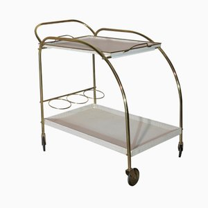 Two-Tiered Metal Service Trolley, 1950s