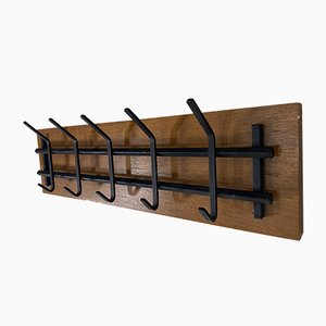 Mid-Century Teak and Steel Coat Rack, 1960s