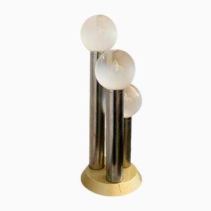 Lampada da tavolo modello H81 Space Age bianca opaca con tre sfere, anni '60