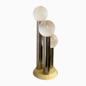 Space Age White Opaque Model H81 Table Lamp with Three Spheres, 1960s