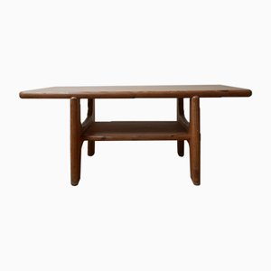 Large Danish Mid-Century Free Form Pine Coffee Table