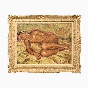 Mujer desnuda, óleo sobre lienzo