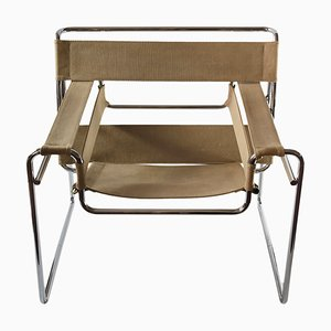Vintage Canvas Textile Wassily Armchair by Marcel Breuer for Gavina