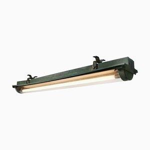 Industrielle Grüne Vintage Kupfer Röhrenlampe von Philips