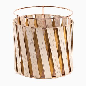 Korob Large Copper Wire Basket with Birch Bark Covering from Moya