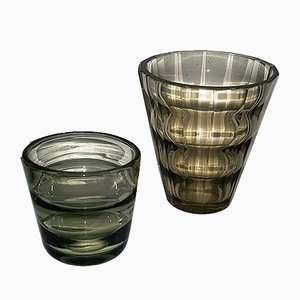Vases by Elis Bergh for Kosta, 1930s, Set of 2