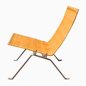 PK22 Rattan Lounge Chair von Poul Kjærholm für Fritz Hansen, 1980er Jahre