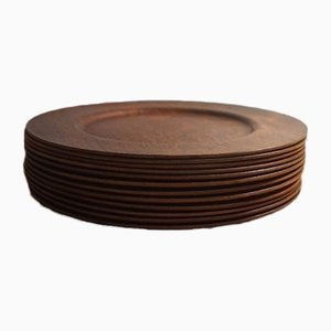 Rosewood Coster Plates by Jens Harald Quistgaard for Nissen, Set of 12