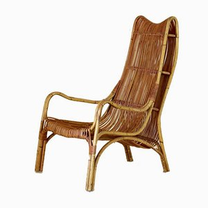 Vintage Bamboo Armchair, 1960s