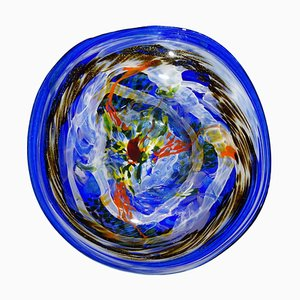 Multicolored Blown Glass Plate by Alex Vieira