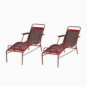 Reclining Lounge Chair by Jean Prouvé & Jules Leleu for Martel de Janville, 1937