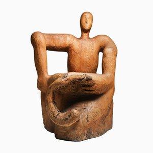 Sculptural Throne Chair, 1950s