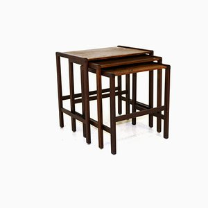 Swedish Rosewood Nesting Tables, 1960s, Set of 3