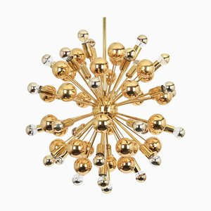 Large Brass Space Age Sputnik Chandelier from Cosack, 1970s