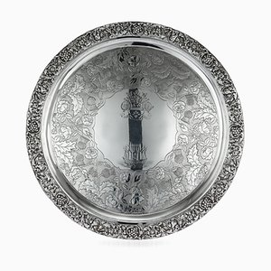 Antique 19th-Century Scottish Solid Silver Salver from George Mchattie, 1819