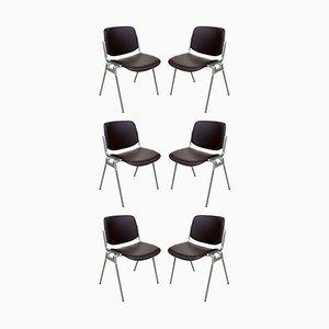 Chaises Empilables par Giancarlo Piretti pour Anonima Castelli, 1960s, Set de 6