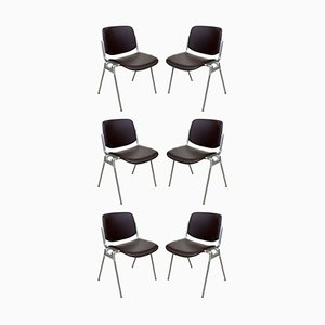 Stacking Chairs by Giancarlo Piretti for Anonima Castelli, 1960s, Set of 6