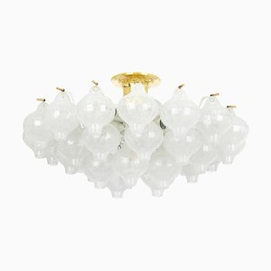 Large Tulip Glass Ceiling Lamp from Kalmar, 1960s