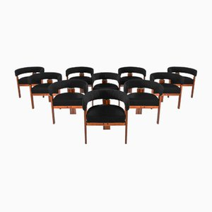 Armchairs by Ettore Sottsass for Poltronova, 1970s, Set of 12