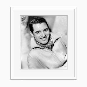 Cary Grant Cravatte Archival Pigment Print Framed in White by Everett Collection