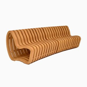 Modernist Curve Bench by Nina Moeller, 2000s