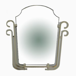 Vintage Mirror In Aluminum Frame