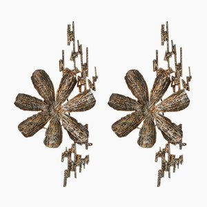 Brutalist Sconces by Salvino Marsura, 1970s, Set of 2