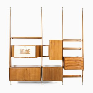 Italian Wall Unit in Beech by Gio Ponti, 1950s