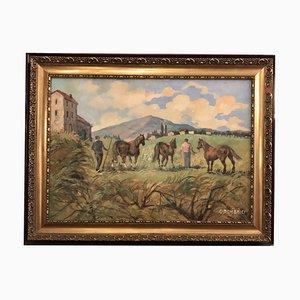 Carlo Domenici, Toskanische Landschaft