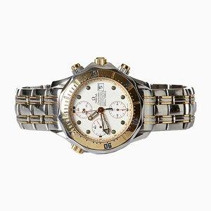 Reloj Seamaster Diver 300 M con cronógrafo de acero dorado de Omega, 1998