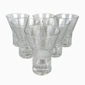 Campari Advertising Glasses, 2000s, Set of 6