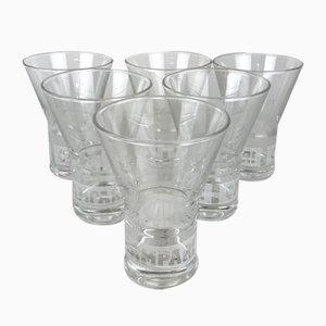 Campari Advertising Glasses, 2000s, Set of 6