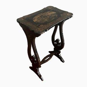 Japanese Style Napoleon III Pedestal Console Table