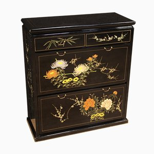 Chinese Lacquered and Painted Shoe Cabinet
