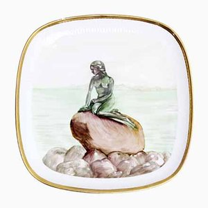 Dekorativer Mid-Century Teller von Royal Copenhagen