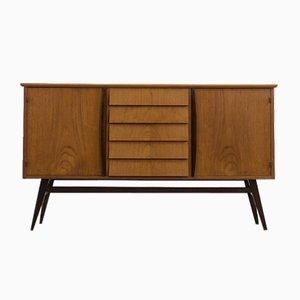 Scandinavian Model 75 Teak High Sideboard with Drawers, 1960s