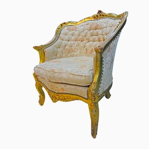 Early 19th-Century French Provincial Gilt Armchair