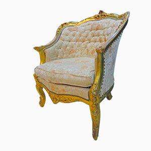 Französischer Provinz-Goldsessel aus dem frühen 19. Jahrhundert