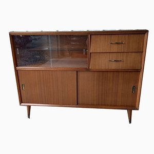 Mid-Century Style Sideboard Storage Unit with Cupboard and Drawers